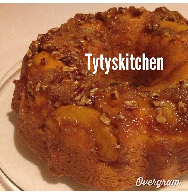 Peach Cobbler Pound Cake