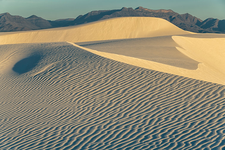 White Sands, New Mexico, Sand Dunes, Mountains