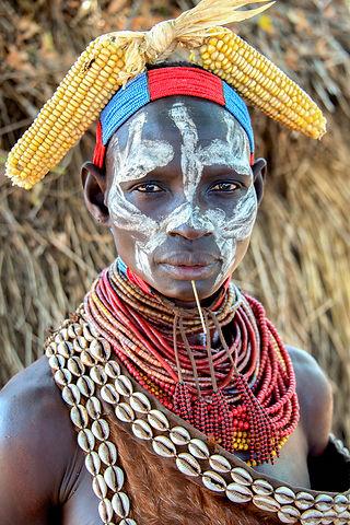Karo tribe,Ethiopia,beading
