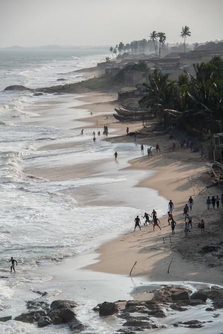 Beach Accra,  Ghana, football