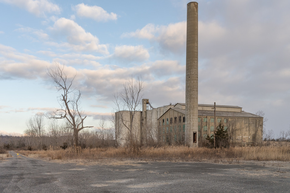 Abandoned cement building, New York