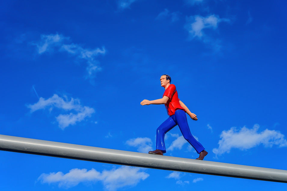 Guy on a high beam