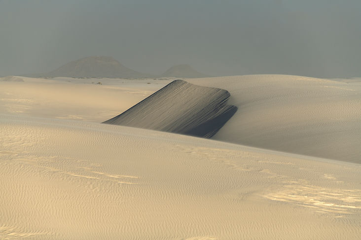 Sand dunes, New Mexico, White