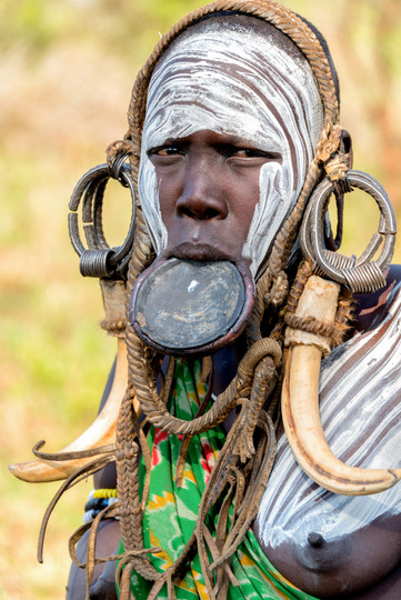 Mursi Woman Adorned