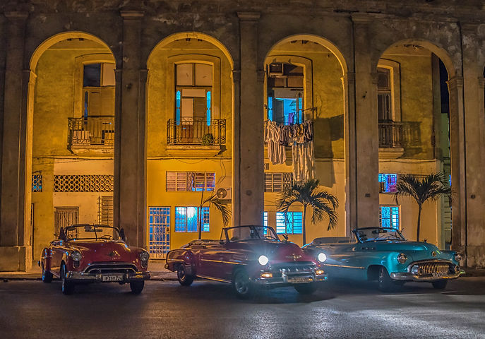 Cuba, American classc cars,Havana