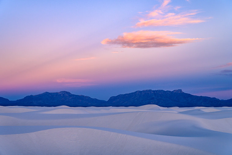 Sunrise, New Mexico, White Sands, Mountains