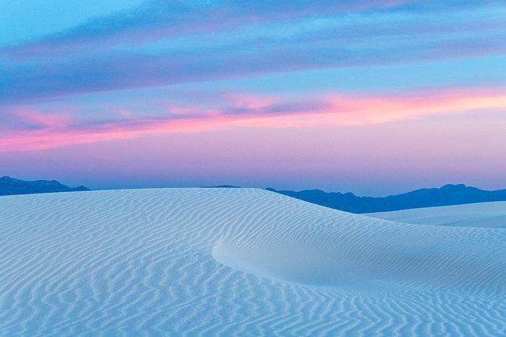 Sunrise, Sand dune, White Sands, New Mexico