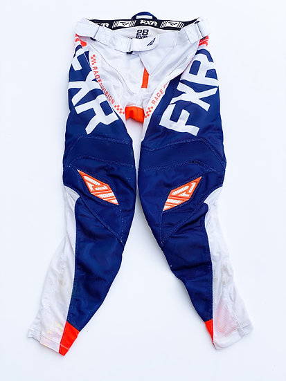 FXR Helium Air orange/navy pants size 28