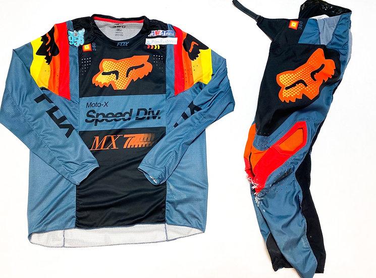 Fox 360 orange/grey gear combo (32/XL)