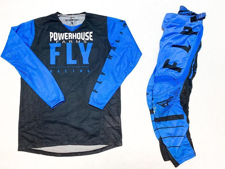 Fly Kinetic Mesh blue/black gear combo (28/M)