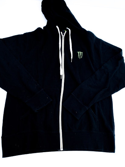 "Monster Energy ""Athlete only"" zip up jacket Size Medium or Large"