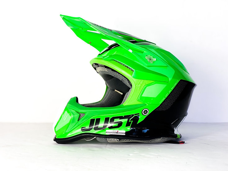 JUST1 MX Helmet green/black Size Small