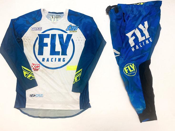 Fly Evolution blue camo/white gear combo (30/S)