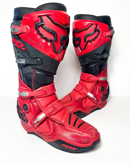 2022 Fox Instinct red/black Boots Size 13