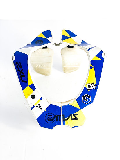 Atlas Carbon Air yellow/blue neck brace Size Medium