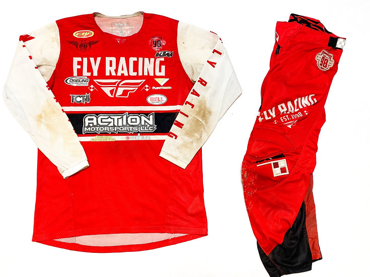 Fly Kinetic Era red/white gear combo (30/M)