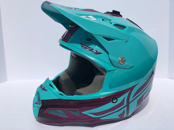 FLY RACING - F2 CARBON MIPS SHIELD HELMET Blue/purple (Size Medium)