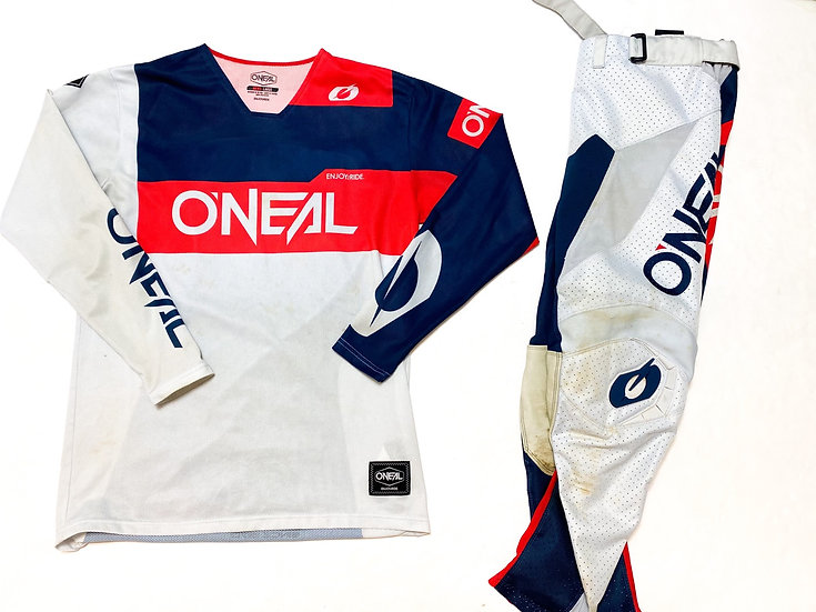 O'Neal Airwear grey/red/navy gear combo (34/L)