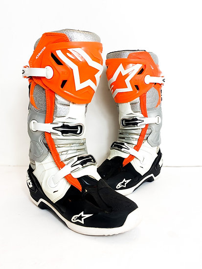 "Alpinestars Tech 10 ""Vegas 2019 orange/glitter"" Athlete only racer boots Size 10"