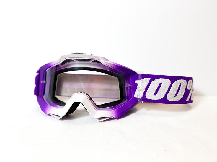100% Accuri purple/white
