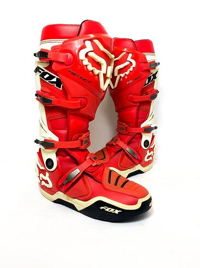 Fox Instinct red/white boots Size 10