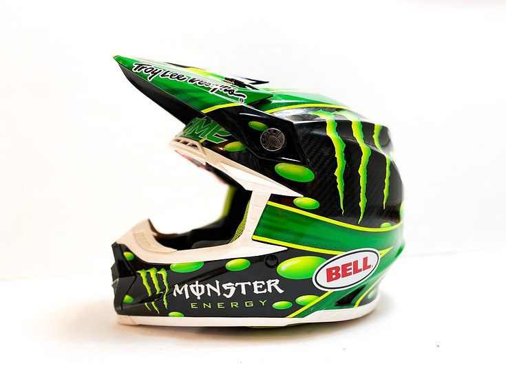 "Bell Moto 9 Flex ""McGrath Monster Energy replica"" helmet Size Small"