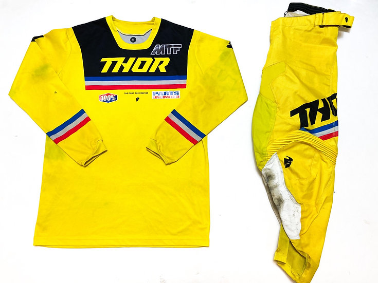 "Thor MX ""Pulse"" yellow/black gear combo (32/M)"