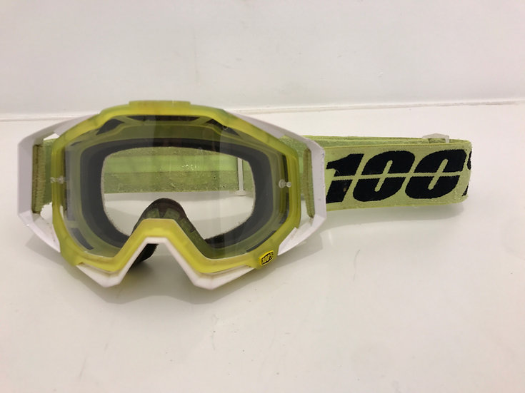 100% racecraft neon yellow/black
