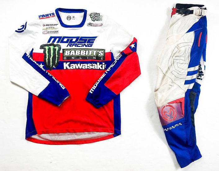 Moose Racing red/blue gear combo (28/M)