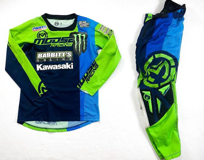 Moose Racing green/blue gear combo (28/S)