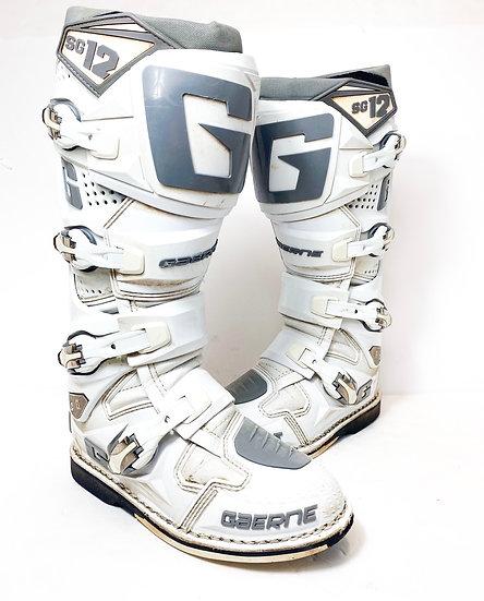 Gaerne SG-12 grey/white boots Size 7
