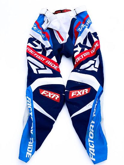 FXR Revo red/blue pants Size 32