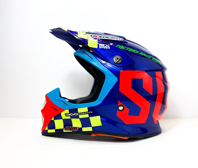 """Suomy Speed """"Master"""" red/blue MIPS helmet Size Large"""