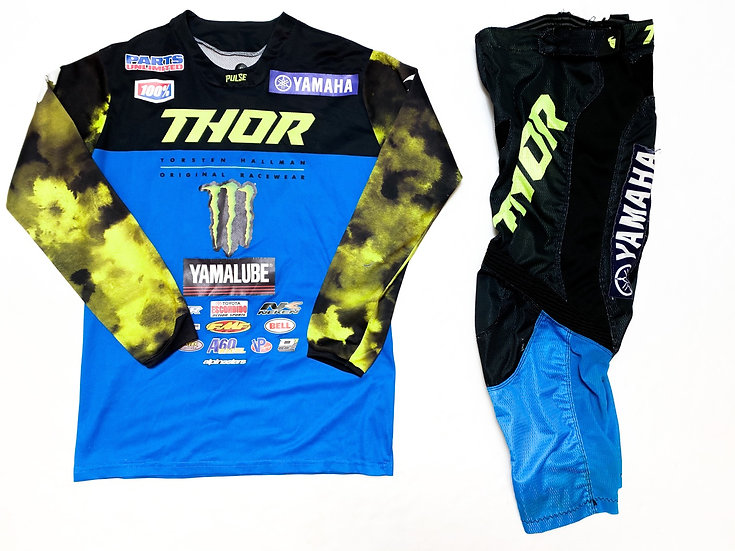 "Thor Pulse ""Stunner"" blue/green camo gear combo (28/S)"