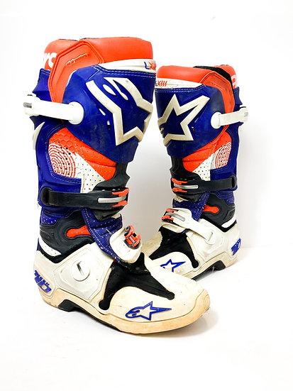 "Alpinestars Tech 10 ""Indy"" orange/purple boots Size 7"