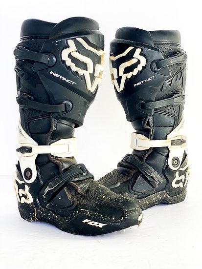 Fox Instinct black/white speckle boots Size 8