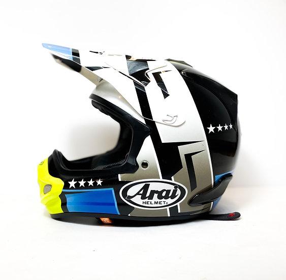 "Arai VX Pro 4 ""Combat"" blue/yellow grey Helmet Size Small"