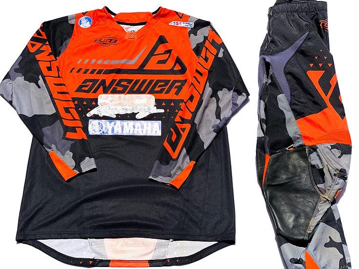 Answer Elite Discord black/orange camo gear combo (34/XL)