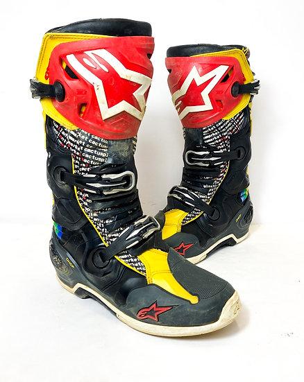 """Alpinestars Tech 10 """"Cactus Plant"""" Racer Boots Size 12"""