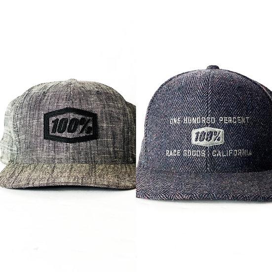 100% Racing (LOT OF 2) hats