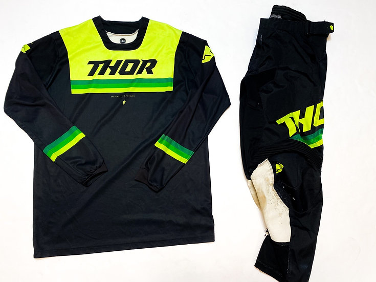 Thor Pulse black/green gear combo (32/L)
