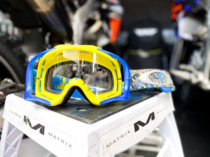 Oakley Crowbar Camo blue/yellow