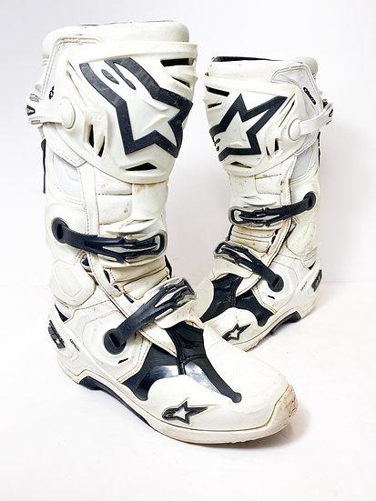 Alpinestars Tech 10 Racer white/black Boots Size 10
