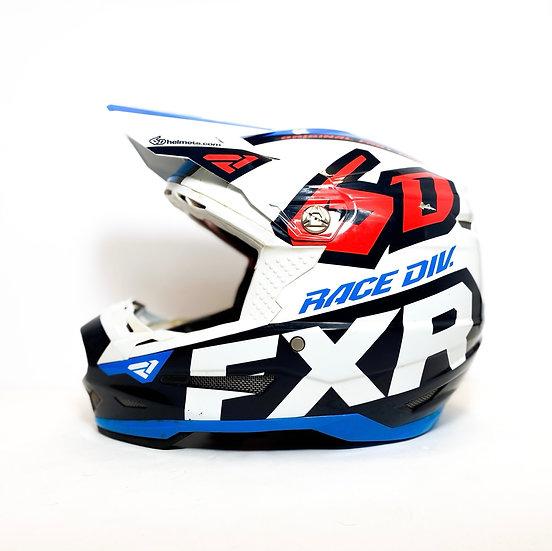 """6D ATR-2 """"FXR red/blue"""" helmet Size Medium"""