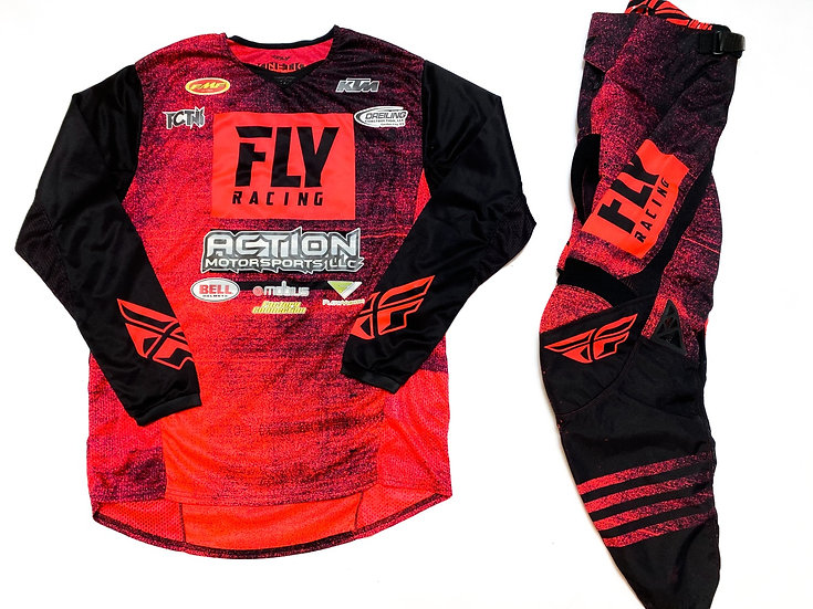 Fly Kinetic flo red/black gear combo (30/M)