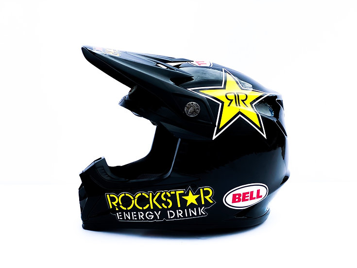 Bell Moto 9 Rockstar Energy custom painted athlete only helmet Size Medium (NEW)