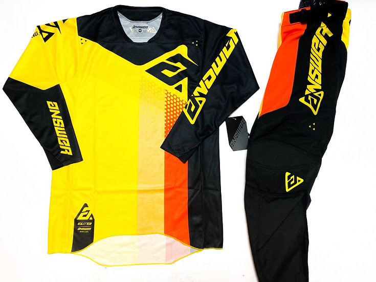 Answer Elite 2021 orange/yellow gear combo BRAND NEW (32/M)