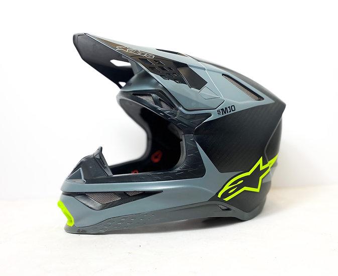 Alpinestars Supertech M10 full carbon neon/grey helmet Size Medium (no pads)