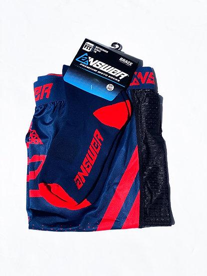 Answer Knee Brace socks red/navy BRAND NEW Size S/M
