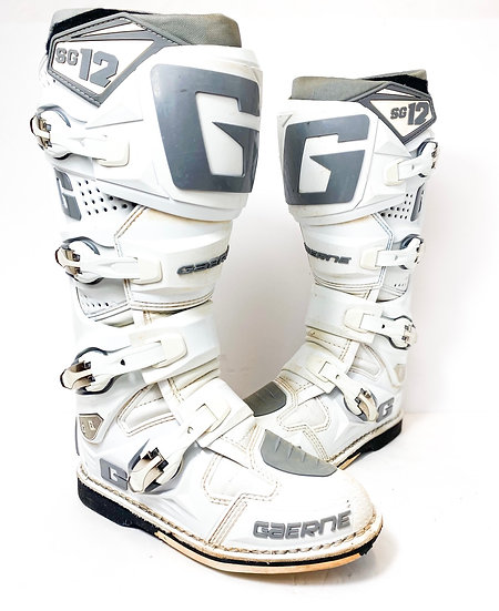 Gaerne SG-12 white/grey boots Size 7